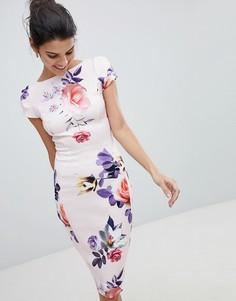 Платье-футляр с цветочным принтом Closet - Мульти