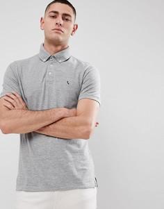 Серая меланжевая футболка-поло с пуговицами Jack Wills Bampton - Серый