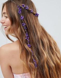 Заколка для волос с фиолетовыми цветами ASOS DESIGN - Мульти