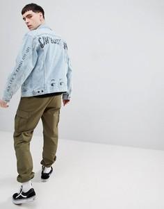 Куртка с принтом закорючек Lee Rider - Синий