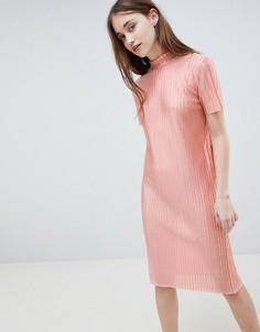 Платье миди Pieces Jose - Розовый
