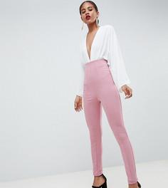 Зауженные брюки с завышенной талией ASOS DESIGN Tall - Розовый