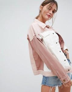 Джинсовая куртка в стиле колор блок PrettyLittleThing - Мульти