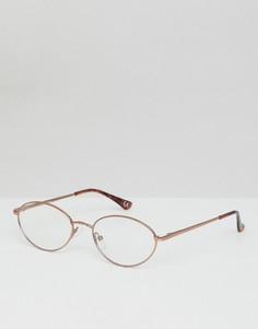 Овальные очки с прозрачными стеклами ASOS - Золотой