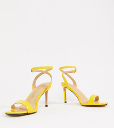 Босоножки для широкой стопы на каблуке River Island - Желтый