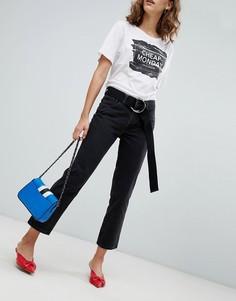 Укороченные джинсы прямого кроя Cheap Monday - Черный