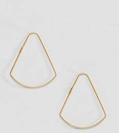 Серьги из позолоченного серебра изогнутой треугольной формы ASOS DESIGN - Золотой