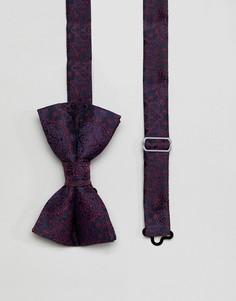 Темно-синий галстук-бабочка с принтом пейсли ASOS DESIGN - Темно-синий