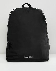 Рюкзак с принтом логотипа Calvin Klein - Черный