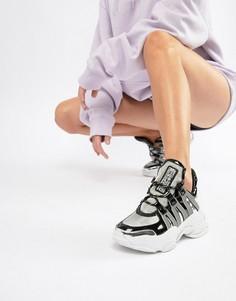 Серебристые кроссовки со вставками и толстой подошвой Jeffrey Campbell - Мульти