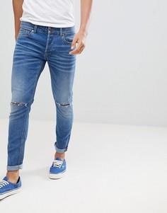 Рваные джинсы скинни Only & Sons - Синий
