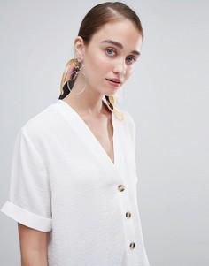 Рубашка прямого кроя на пуговицах New Look - Белый