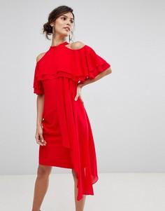 Платье с оборками Coast Inez - Красный