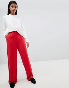 Широкие брюки Selected Femme - Красный