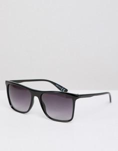 Черные квадратные солнцезащитные очки в стиле ретро River Island - Черный