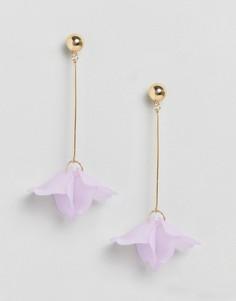 Серьги-подвески с цветочной отделкой Liars & Lovers - Фиолетовый