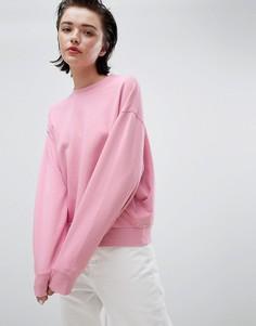 Розовый укороченный свитшот Weekday - Розовый