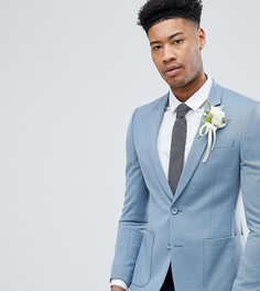 Полушерстяной супероблегающий блейзер ASOS DESIGN Tall Wedding - Синий