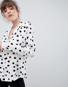 Блузка в горошек Ichi - Белый