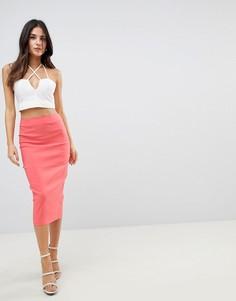 Длинная юбка-карандаш ASOS DESIGN - Розовый