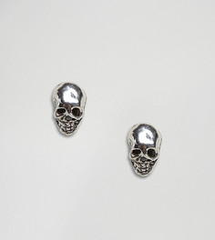 Серебряные серьги-гвоздики в виде черепов Kingsley Ryan - Серебряный