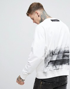 Oversize-свитшот с принтом на спине Religion - Белый
