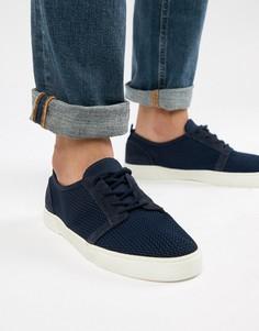 Темно-синие сетчатые кеды на шнуровке ASOS DESIGN - Темно-синий