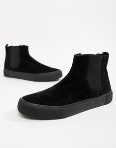 Черные кроссовки челси из искусственной замши ASOS DESIGN - Черный