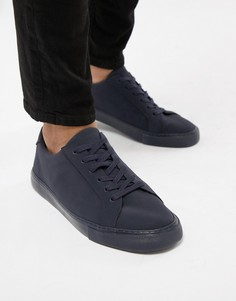Темно-синие кроссовки из искусственной кожи ASOS DESIGN - Темно-синий