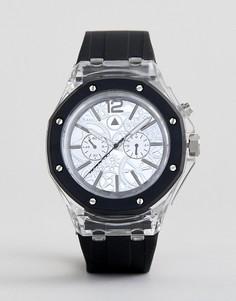 Прозрачные часы с контрастным ремешком и открытым механизмом ASOS DESIGN - Белый