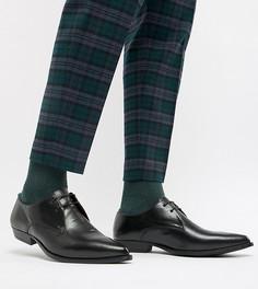 Черные ботинки для широкой стопы из искусственной кожи ASOS DESIGN - Черный