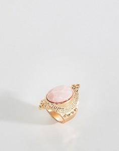 Кольцо с полудрагоценным камнем ASOS DESIGN - Золотой