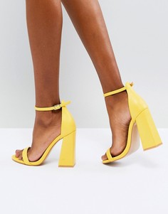 Желтые босоножки на блочном каблуке Public Desire Tess - Желтый