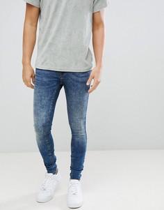Облегающие джинсы с состаренной отделкой Blend Flurry - Синий