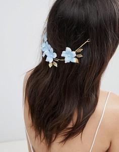 Украшение для волос с цветочной отделкой ASOS DESIGN - Золотой