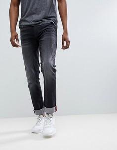 Черные рваные джинсы слим Blend Jet - Черный