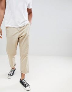 Укороченные суженные брюки Jack & Jones - Кремовый