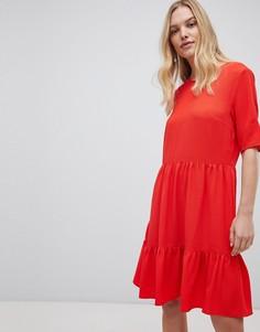 Ярусное свободное платье Y.A.S - Красный