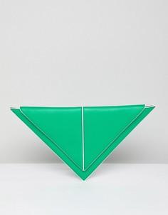 Треугольный клатч ASOS DESIGN - Зеленый