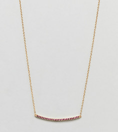 Серебряное ожерелье с позолотой из 18-каратного золота и декорированной планкой Shashi - Золотой