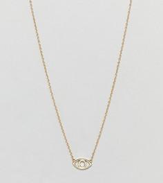 Серебряное ожерелье с позолотой из 18-каратного золота и подвеской Третий глаз Shashi - Золотой