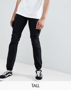 Черные брюки-карго Replika Tall - Черный