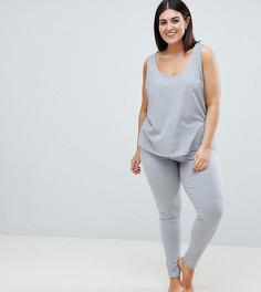 Комбинируемые пижамные леггинсы ASOS DESIGN Curve - Серый
