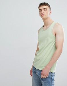 Майка-борцовка с необработанными краями Solid - Зеленый