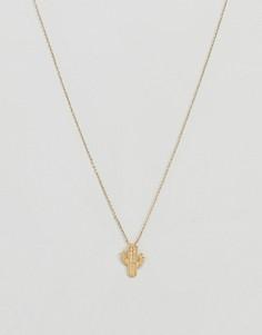 Ожерелье с подвеской в виде кактуса Nylon - Золотой