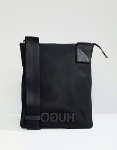 Нейлоновая сумка на молнии с логотипом HUGO - Черный