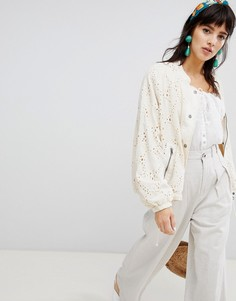 Бомбер Free People Daisy Jane - Белый