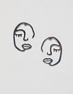 Броские серьги Weekday - Серебряный