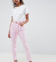Розовые джинсы в винтажном стиле с завышенной талией ASOS DESIGN Petite - Розовый