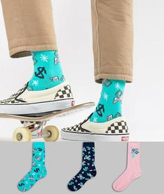 3 пары носков с принтом ASOS - Мульти